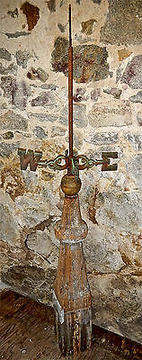Antique Colonial Xxx Rare Primitive Weathervane Directionals C.1690 Barn Cupola