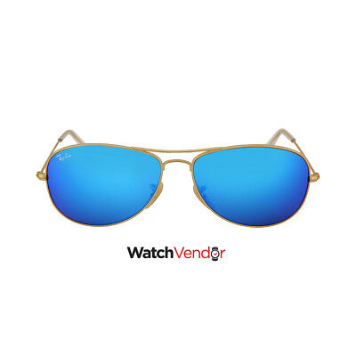 Ray Ban Cockpit Aviator Blue Mirror Flash Lenses Sunglasses RB3362-59-112-17