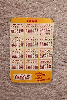 Vintage Advertising Wallet Ruler & Calendar Card - NOS 1963 COCA COLA COKE