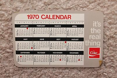Vintage Advertising Wallet Ruler & Calendar Card - NOS 1970 COCA COLA COKE