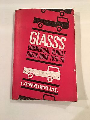 GLASS'S COMMERCIAL VEHICLE CONFIDENTIAL UK Check Book 1970 - 78