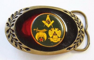 Solid Brass Masonic Shriners Belt Buckle  (69C)