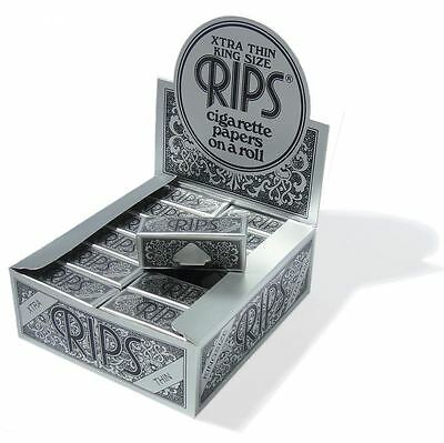 RIPS Black Xtra Thin King Size Rolling Papers On A Roll - Multi Listing