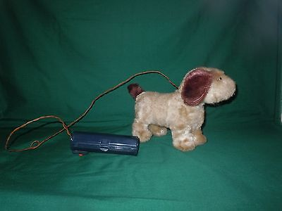Vtg Puppy Dog Battery Operated Remote Control Walking DOG Japan WORKS but read