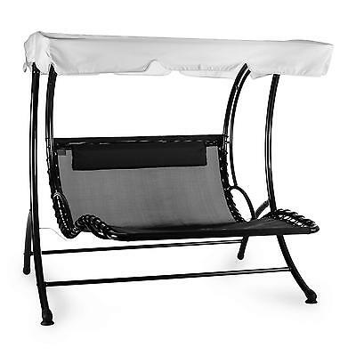 Garden Patio Sun Lounge Swing Chair Seat Bench Outdoor Home Grey Extra Wide Grey