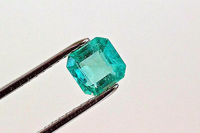 8mm 2.1 TCW Square Cut Natural Colombian Emerald Loose Gemstone
