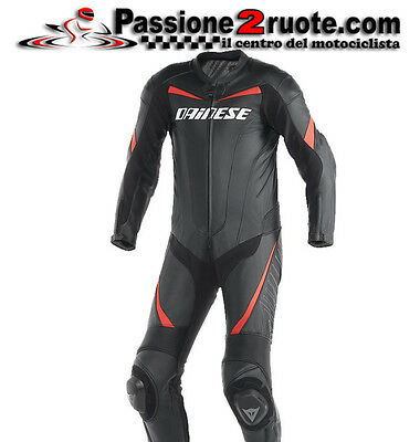 suit skin entire Dainese Racing black red moto leather suit 1 piece