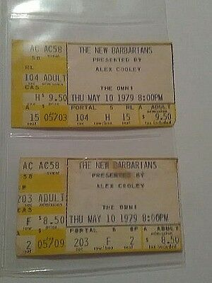 Rare Two The New Barbarians 1979 At The Omni May/10/1979 Concert Ticket Stub