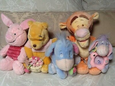 Winnie The Pooh, Tigger Piglet Eeyore Soft Plush Toy Bundle