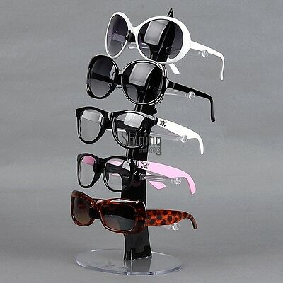 For 5 Pair of Eyeglasses Sunglasses Plastic Arcylic Retail Display Stand SHNS
