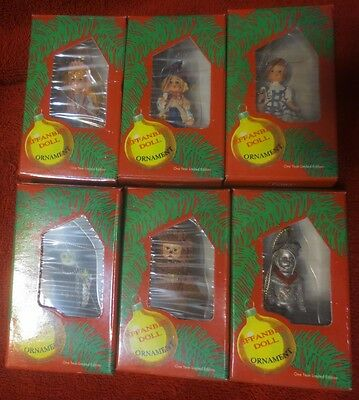 EFFANBEE Ornaments Wizard Of Oz limited edition 6 Dorthy, Scarecrow, Lion, Tin