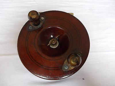 "VINTAGE 4.5"" STARBACK WOODEN CENTREPIN Reel --- In good used condition."