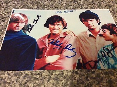 THE MONKEES AUTOGRAPH 6 X 4 PP Signed Photo