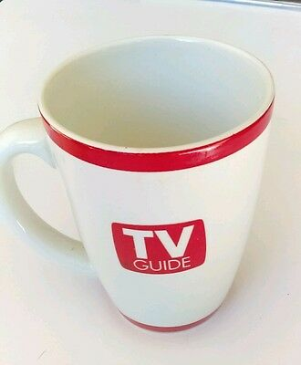 Tv Guide Collectible  Ceramic Coffee Mug Cup Television