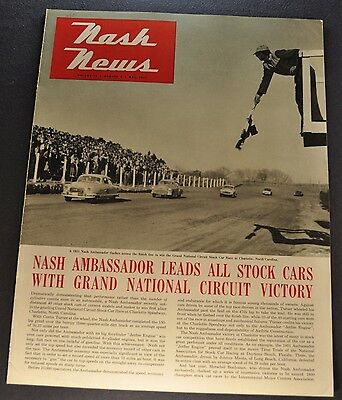 1951 Nash News Catalog Brochure Ambassador Stock Car Excellent Original 51