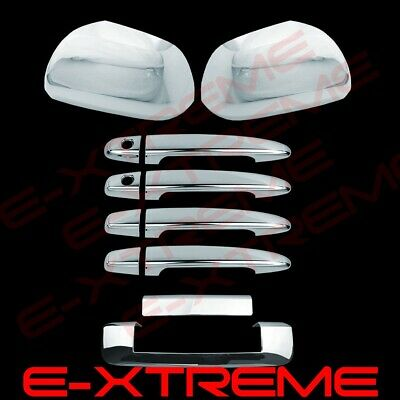 Fit 2012-2015 Toyota Tacoma Chrome Mirror Cover+Door Handle+Tailgate Cover Kit