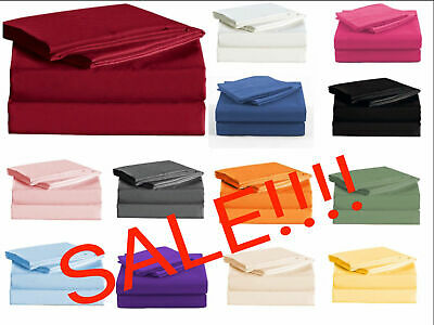 """Persian Collection 1900 Count Sheet SET 16"""" Deep Pocket Wrinkle Free Bedding"""