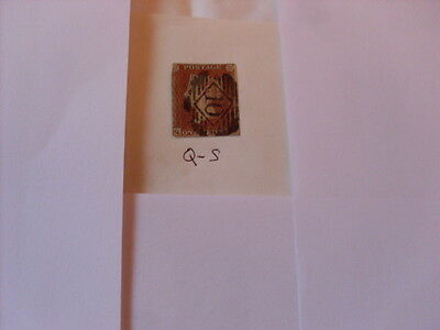 Queen Victoria 1841 Penny Red  Q - S  Imperforate