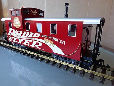 LGB 47710 RADIO FLYER Caboose wagon WITH LIGHTS G scale