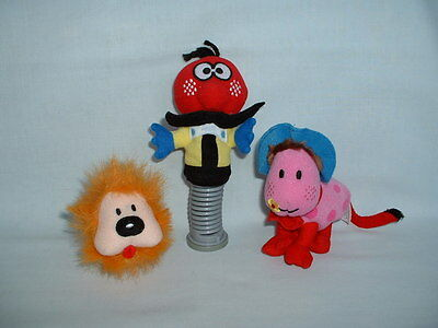 THE MAGIC ROUNDABOUT ZEBEDEE DOUGAL & ERMINTRUDE Cuddly Soft Beanie Toys DOG/COW