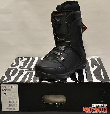 '14 / '15 Ride Jackson Boa Snowboard Boots – Black - 9 *NEW*
