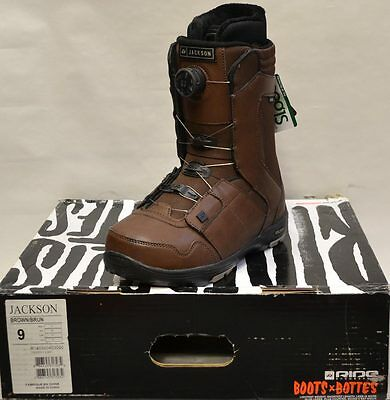 '14 / '15 Ride Jackson Boa Snowboard Boots – Brown - 9 *NEW*