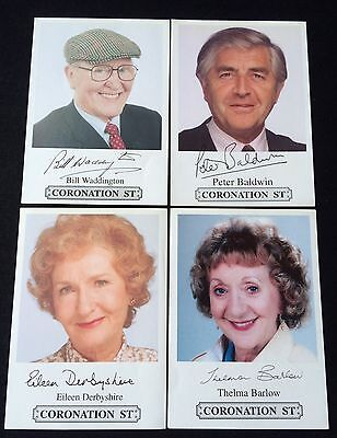 Fantastic Set Of 4 Coronation Street Cast Cards * Fast Delivery * VGC *