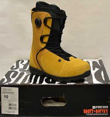 '14 / '15 Ride Triad Boa Snowboard Boots – Bronze - 10 *NEW*