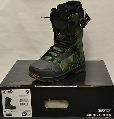 '15 / '16 Ride Triad Boa Snowboard Boots – Camo - 9 *NEW*