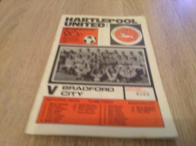 Group Cup Hartlepool v Bradford City 19-8-1981
