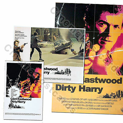 Clint Eastwood Dirty Harry Callahan 8 Lobby Set+Post Card+Film Cell+FOLD' Poster
