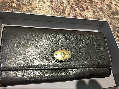 Mulberry Vintage Brown Leather Continental Wallet/Purse