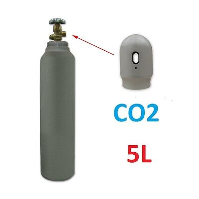 NEW CO2 100% gas FULL Bottle Cylinder 5 Liter 200 Bar Pure Welding Gas  AQUA