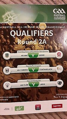 GAA qualifiers round 2A 2016 programme