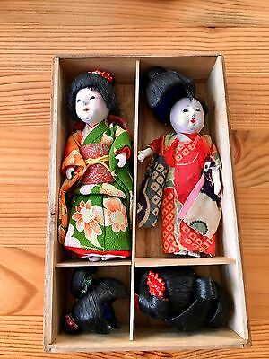 Vintage Japanese Dolls With 5 Wigs