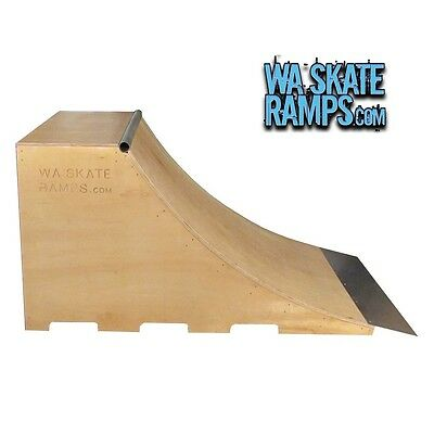 QUARTER PIPE SKATE RAMP 3 FT HIGH x 6 FT WIDE