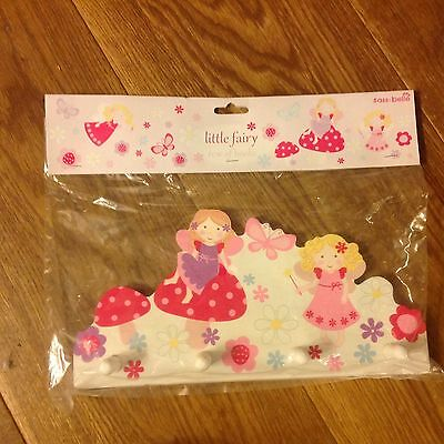 Sass And Belle Little Fairy Wooden Hook Perfect For Children's Bedroom Playroom