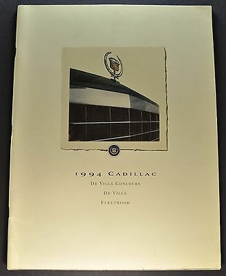 1994 Cadillac DeVille Fleetwood Concours 44pg Brochure Excellent Orig Canadian