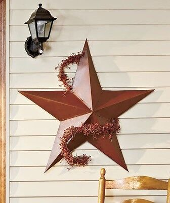 "Metal Rustic Barn Star 36"" 3D Dimensional Americana Country Home Wall Fence"
