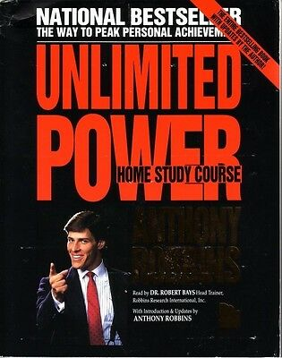 Anthony Robbins Unlimited Power Home Study Course 16 Set Audio Tapes & Workbook