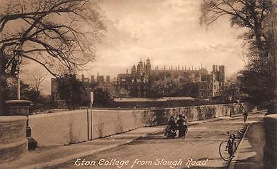 Postcard Vintage c1905 ETON College from Slough Road Berkshire by F. Frith & Co.