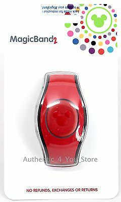 NEW 2017 Disney Parks RED Magic Band 2 2.0 Link It Later MAGICBAND Linkable
