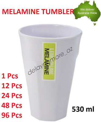 530 ml Melamine Tumblers Cup Drinking Tumbler Water Cups White Mug Coffee Party