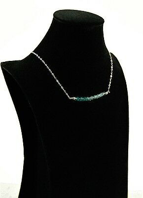 Blue Topaz  faceted, Sterling Silver necklace, handmade