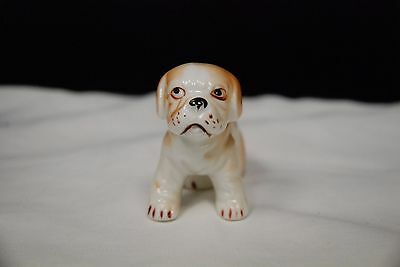 Vintage Porcelain Bulldog Miniature Dog Figurine