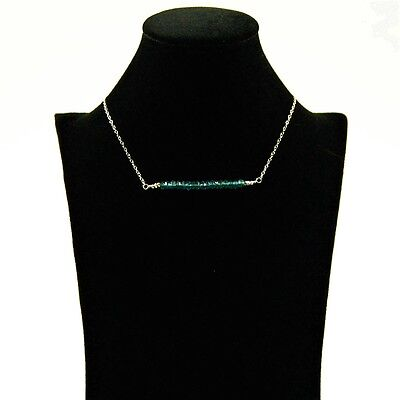 London Blue Topaz faceted, Sterling Silver necklace, handmade