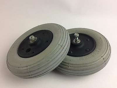 "Front Caster Tire Wheel - Flat-Free 8""x2"" MERITS Regal Wheelchair 200x50"
