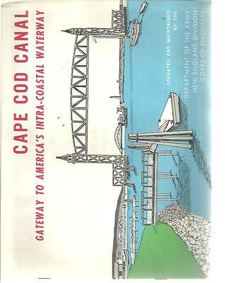 b2 -Vintage 1960's CAPE COD MA CANAL  America's Coastal Waterway Gateway Booklet