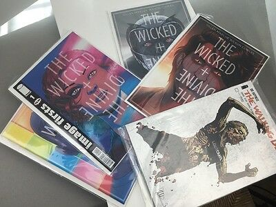 The Wicked + The Divine #1 #8 #9 #10 And Exclusive 132 Walking Dead Comics Lot