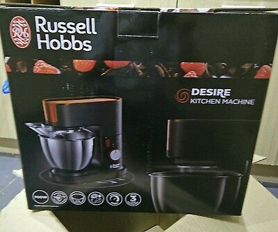 Russell Hobbs 20350 Desire Kitchen Machine Mixer, 4.5 L, 700 W - Black and Red